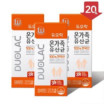 [추석/20%할인] 듀오락 온가족유산균 3개월+쇼핑백