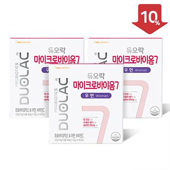 [추석/10%할인] 마이크로바이옴7 우먼 3개월+쇼핑백