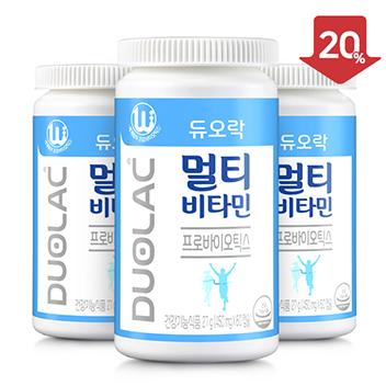 [추석/20%할인] 듀오락 멀티비타민 3개+쇼핑백