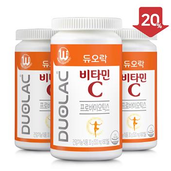 [추석/20%할인] 듀오락 비타민C 3개+쇼핑백