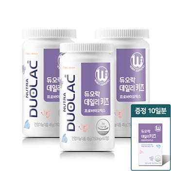 [추석/10일증정] 듀오락 데일리키즈 3개월(요구르트)+증정10일+쇼핑백