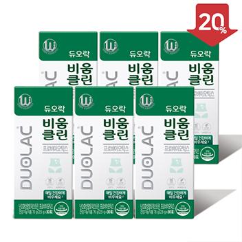 [추석/20%할인] 듀오락 비움클린 3개월(6개)+쇼핑백